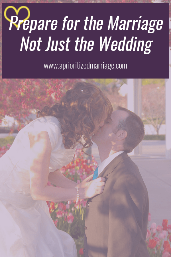 As you prepare for and plan your wedding, make sure you are also preparing for your marriage and a lifetime together.