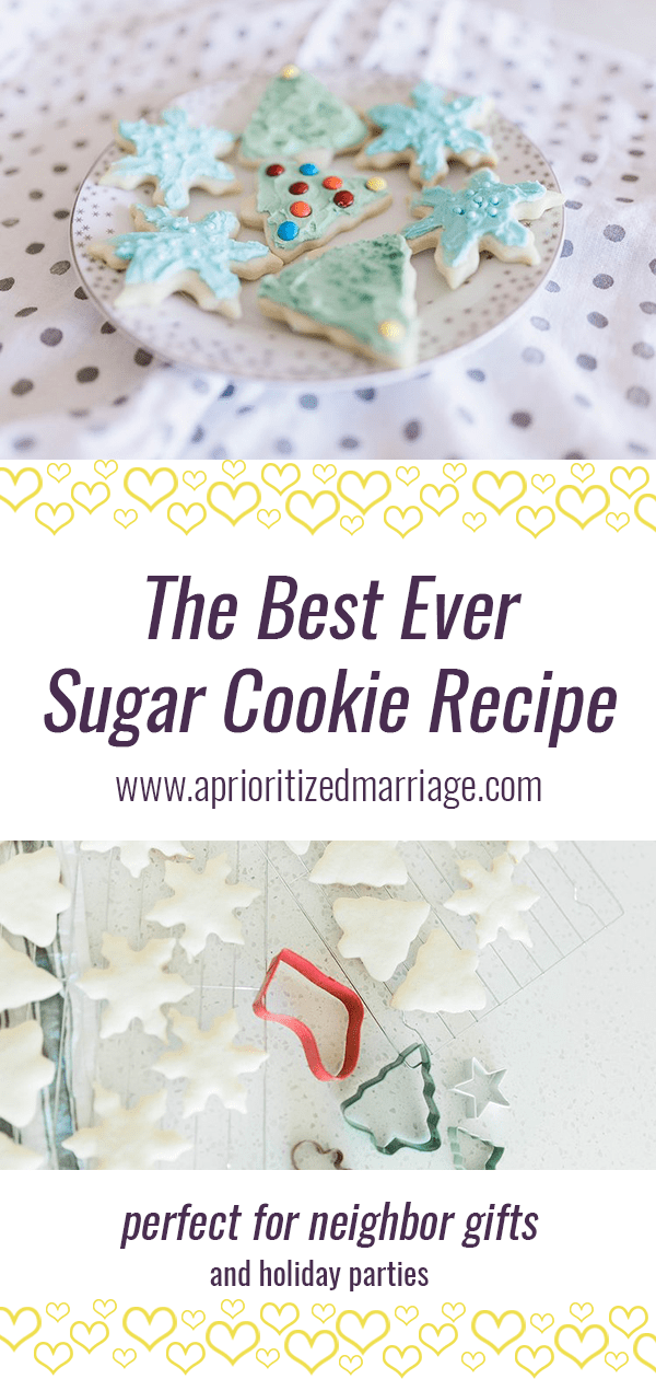 The best sugar cookie recipe you'll ever make. Perfect for neighbor gifts at Christmas