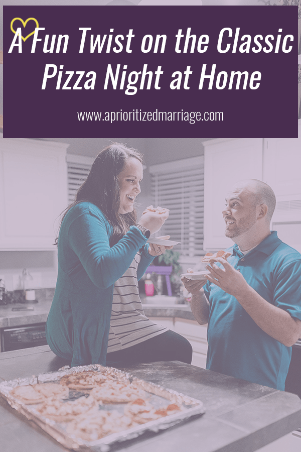 Fun at home pizza date night idea