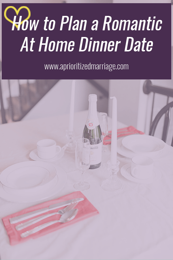 Planning a romantic at home dinner date