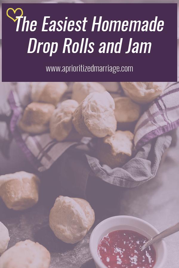 Easy homemade roll recipe with homemade jam.