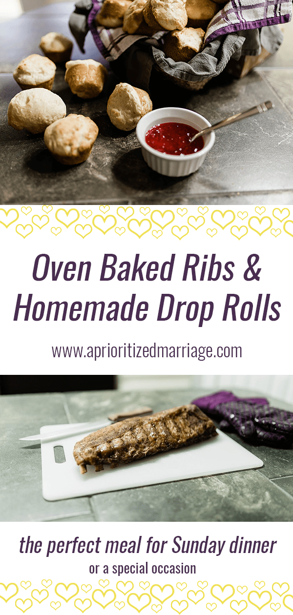 Our favorite recipes for homemade rolls and ribs cooked in the oven.