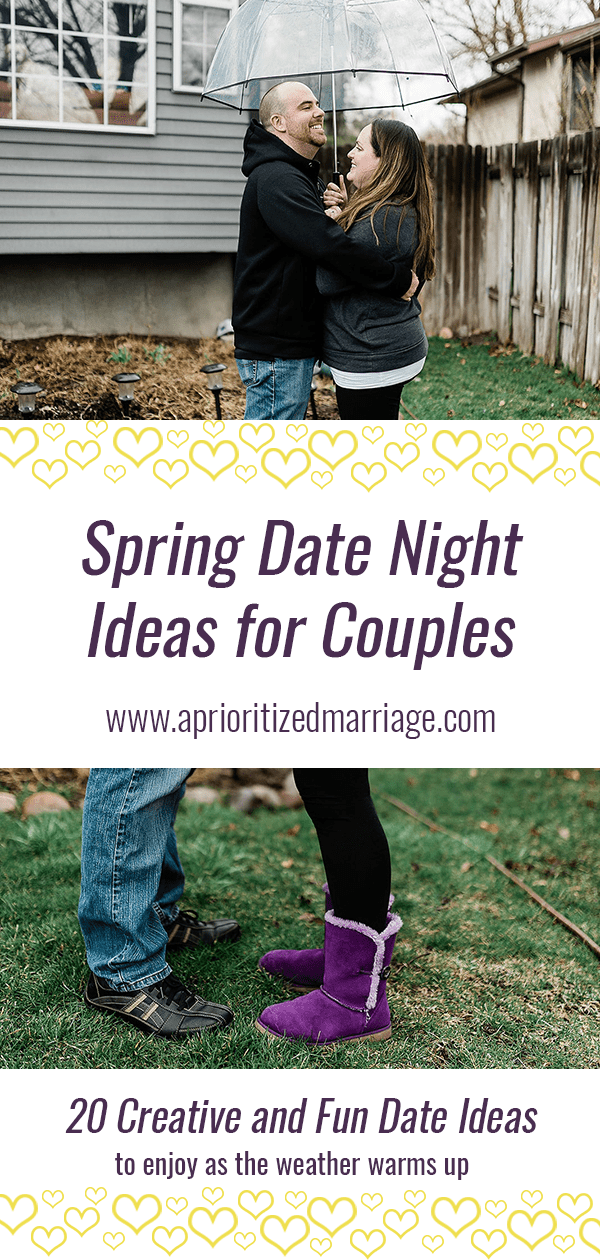 Spring date night ideas for married couples.