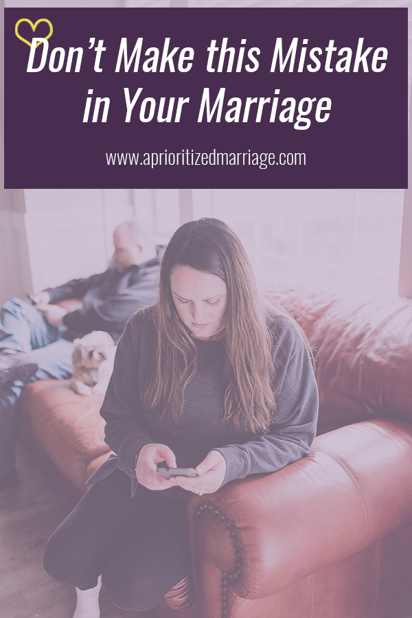 Learn from my mistakes and don't make this one in your marriage.