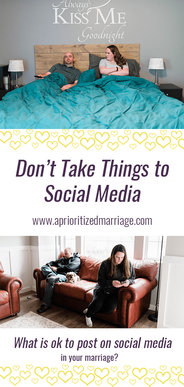 Don't take your arguments to social media. Those things don't need to be made public.