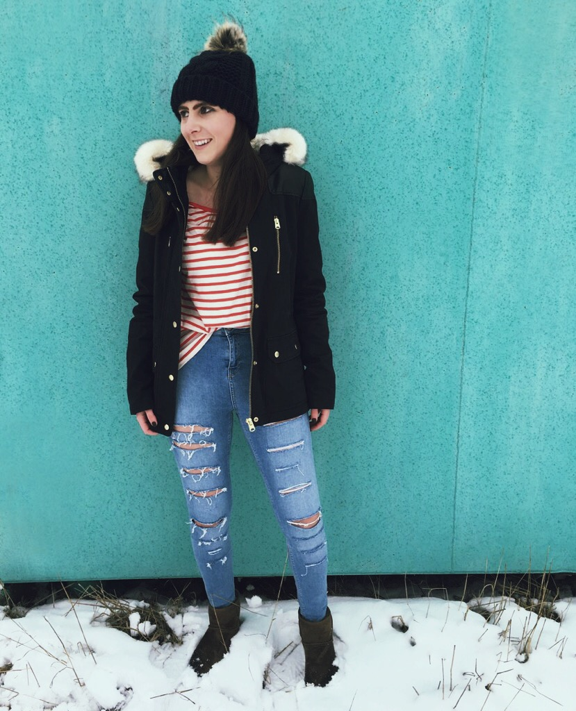 Wearing: Topshop jacket, jeans, beanie / Esprit long sleeve top / UGG Australia boots