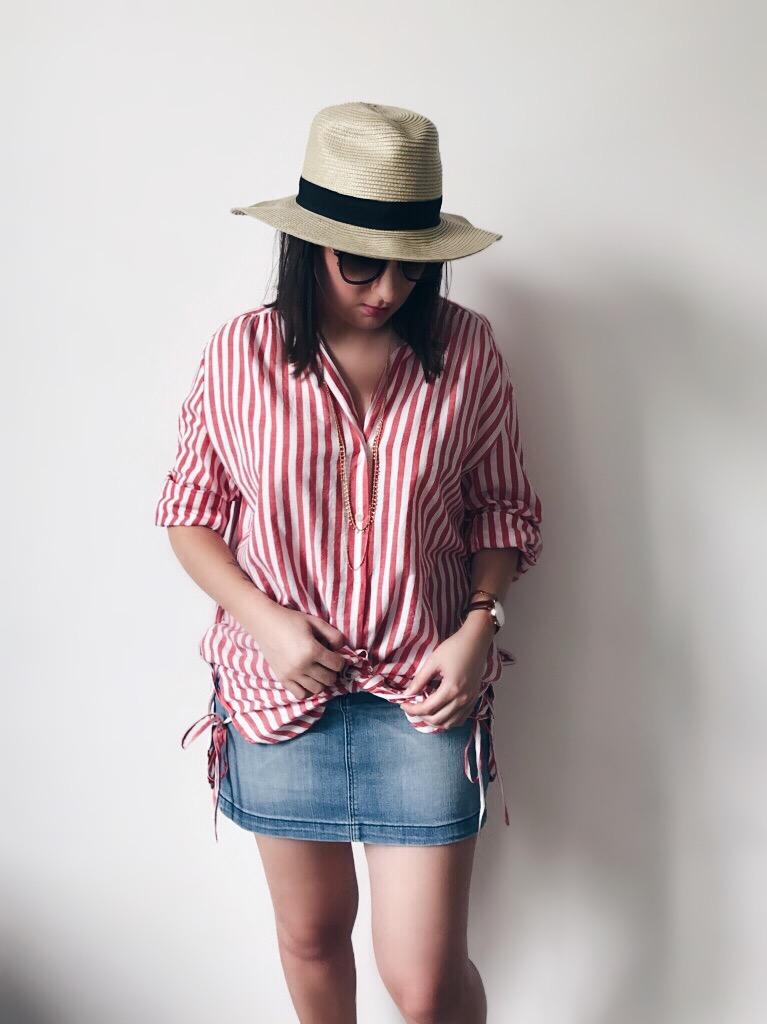 Wearing: Zara shirt / Tommy Hilfiger skirt / Topshop hat / Emma & Chloé necklace / TIJN Eyewear sunglasses / Daniel Wellington watch / Paul Hewitt bracelet