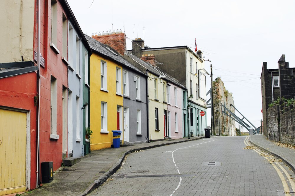 Limerick, Ireland. Colourful houses.