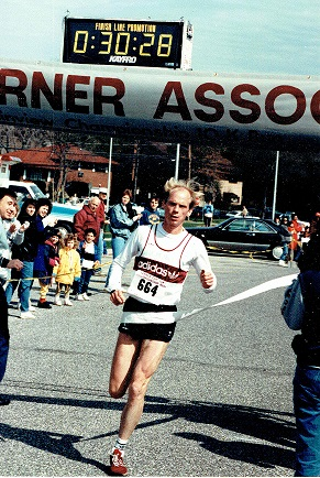 Pat Petersen sets the record at the 1988 Aspire 10K.