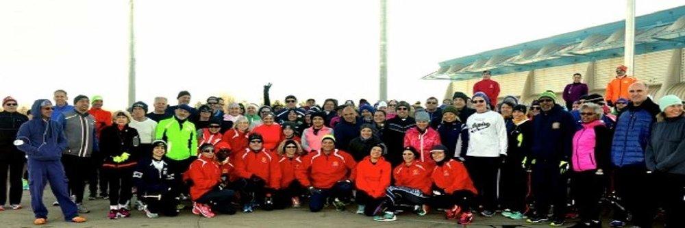 Participants at a RunSmart training session in Eisenhower Park.