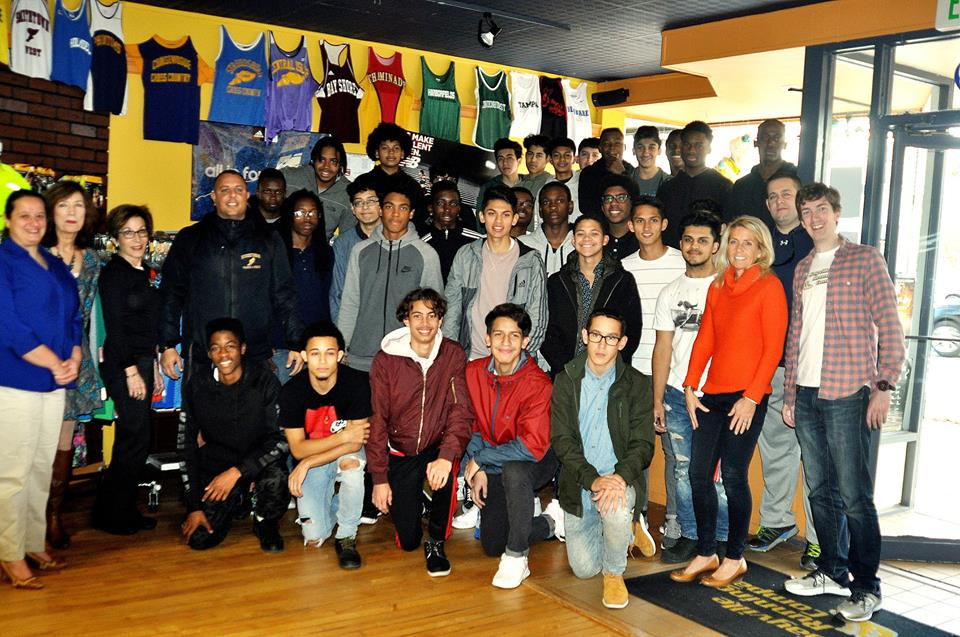 GLIRC and Sayville Running Company outfitted 2017 grant recipients from Central Islip High School.