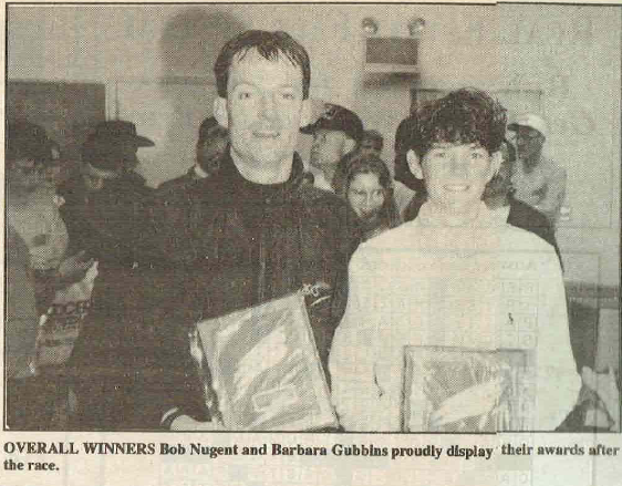 Press clip from the inaugural Rob's Run in 1993.