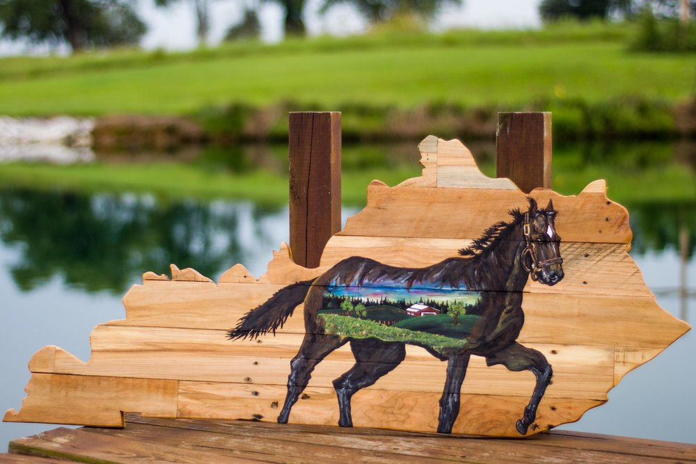 Horse Painted Kentucky Sign   from    $125