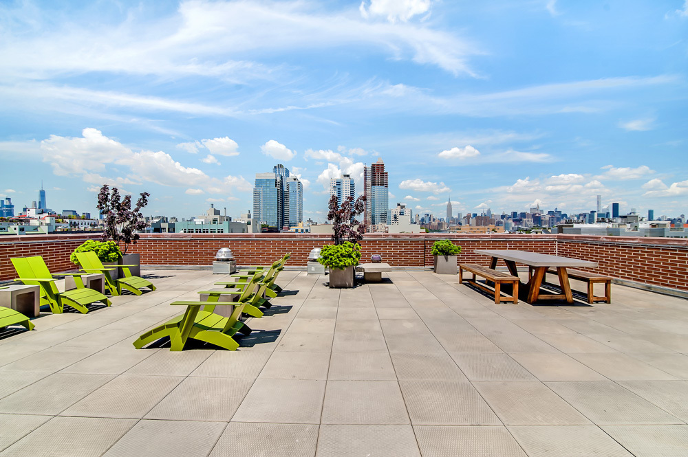 Rooftop in  my  421a rental building in Brooklyn. Photo courtesy of Streeteasy