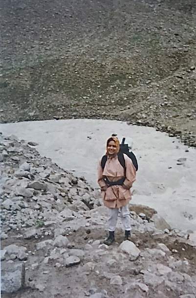 Hiking in the Zanskar Range, Himalayas as a young adult,  Ritu Saheb, Architect, AIA