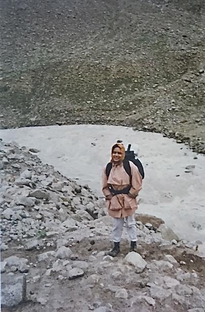 Hiking in the Zanskar Range, Himalayas as a young adult,  Ritu Saheb, Architect, AIA