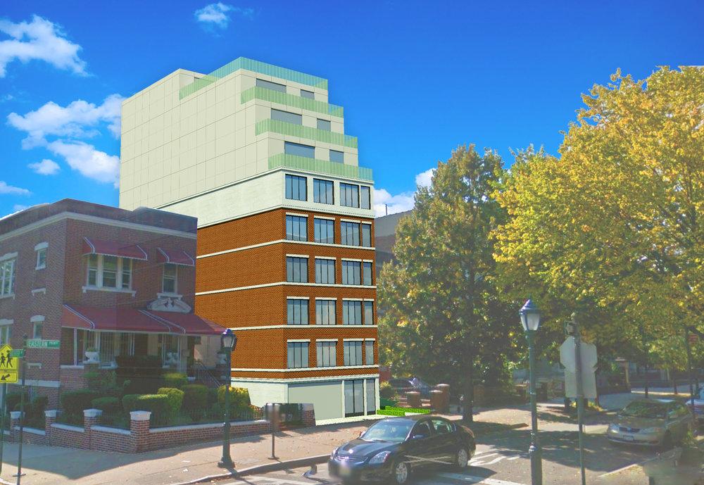 Rendering of a new building in Crown Heights, Brooklyn by  Marios Drakos