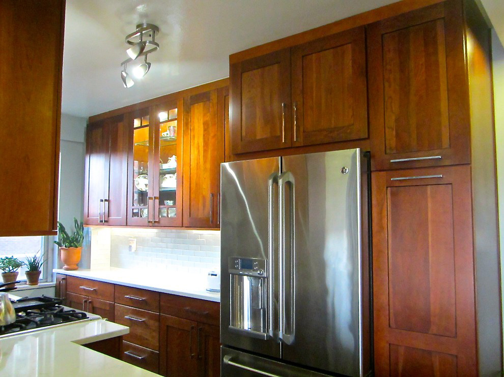 You don't need an architect, if you are just changing kitchen cabinetry. Photo by  Ritu Saheb, Architect, AIA