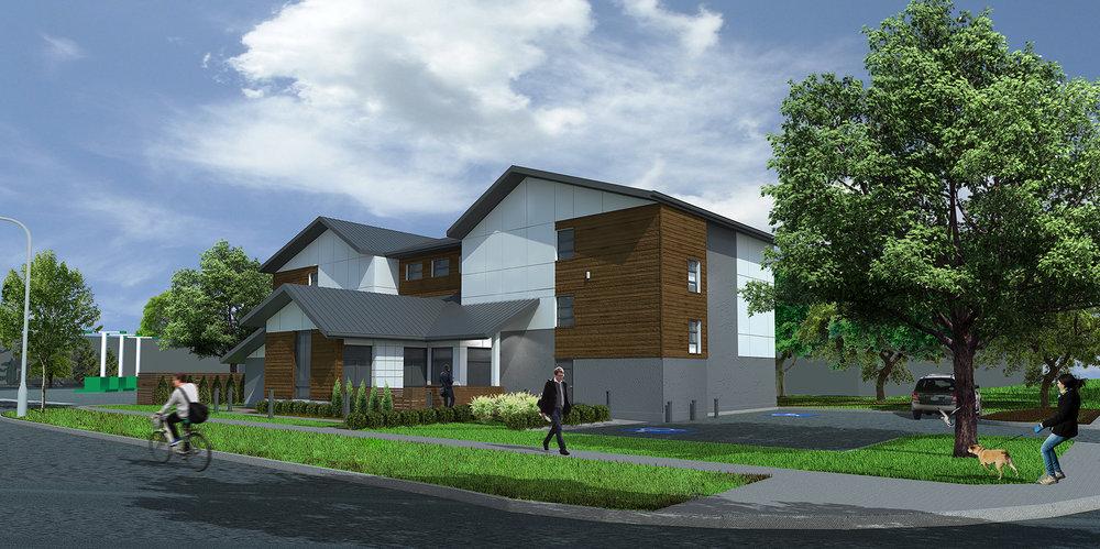128 Hemlock Crescent Multi-Unit Housing - 12-unit housing complex in Thompson, MB.