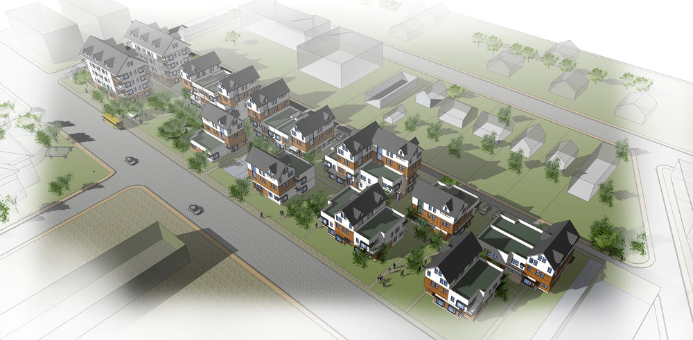 Community Redevelopment Study - Feasibility study for converting a small neighbourhood to mixed-use and multi-unit residential.