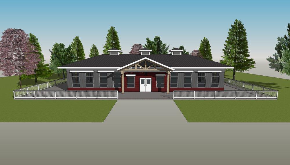 Community Gazebo Design - Conceptual design of a 4-season gazebo for a Manitoba community.