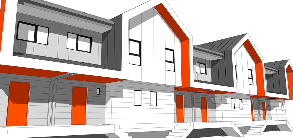 9 Marlene Street - Multi-unit row housing for Manitoba Housing in Winnipeg, MB.
