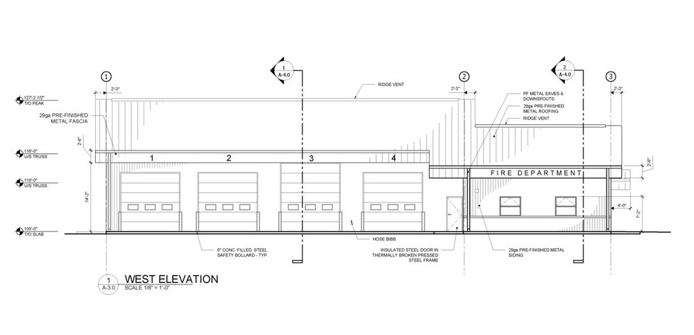 Miniota Fire Hall - Design and construction of a new fire hall for the town of Miniota, MB.