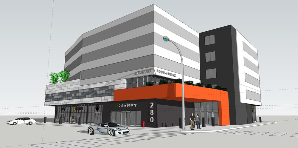 280 St. Mary Avenue - Design concept for a mixed-use building in Downtown Winnipeg.