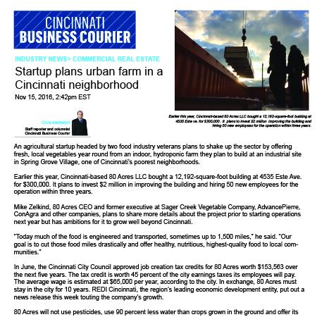 Cincinnati Business Courier Nov 2016