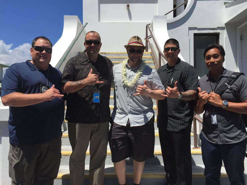 With a special place in his heart for the detective who worked on his case, Sasha takes the opportunity to meet with and thank the detectives of  Hilo,HI  for their service.