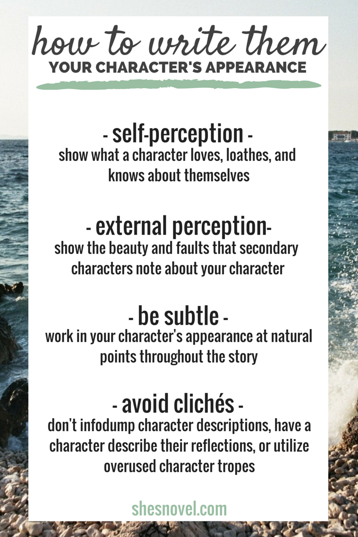 Your Character's Appearance - How to Write Them | The Ultimate Guide to Nailing Your Character's Appearance from She's Novel