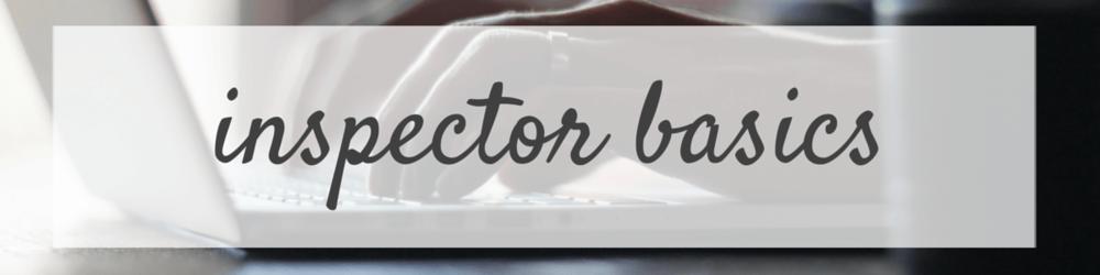 Inspector Basics
