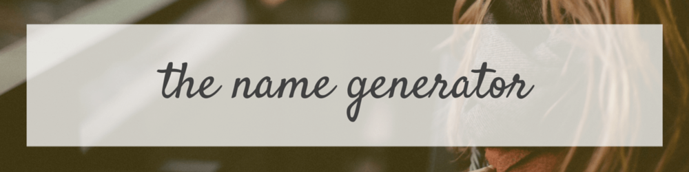 The Name Generator
