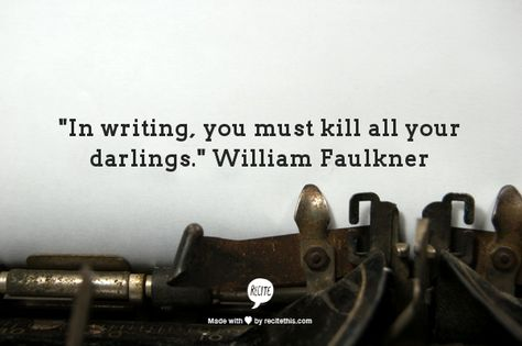 """You've probably heard the phrase, """"Kill your darlings"""" more than a few times in your writing journey. But do you know what it actually means and how you can put it into practice without going mad? Check out this article from ShesNovel.com for Kristen's top ten tips for killing your darlings."""