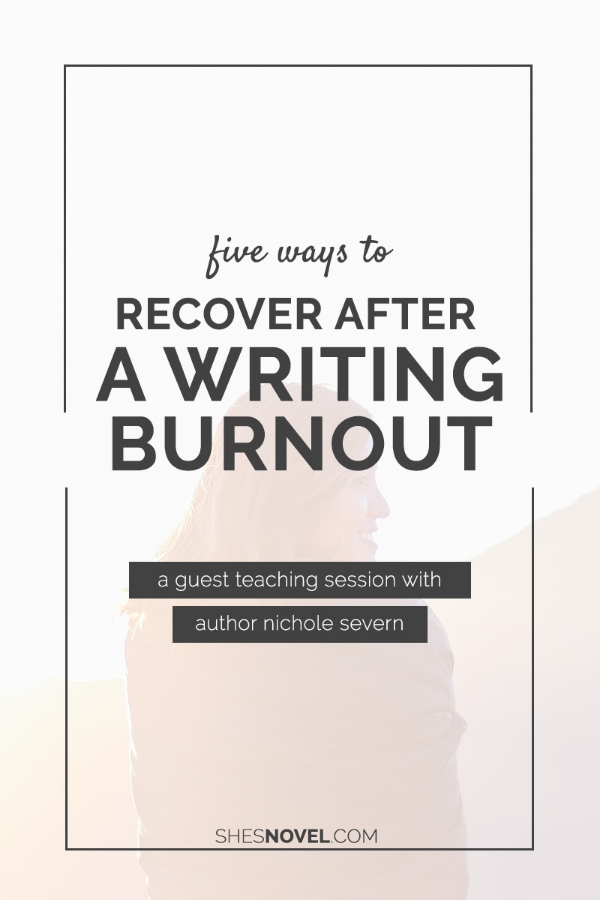 Feeling stretched thin and frustrated? Check out Nichole Severn's top 5 ways to recover from a writing burnout in this guest post on ShesNovel.com