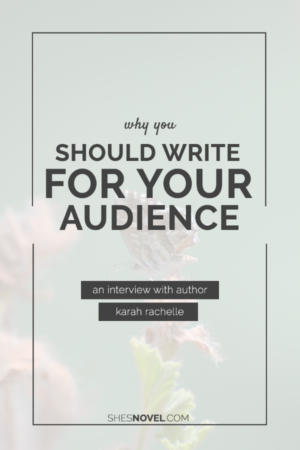 You can't please everyone! Writing only for your audience is the key to maintaining a healthy writing mindset. Check out September's Featured Novel Lady - Karah Rachelle, author of Ellie Versus - for more tips and to learn more about her own writing process. ShesNovel.com