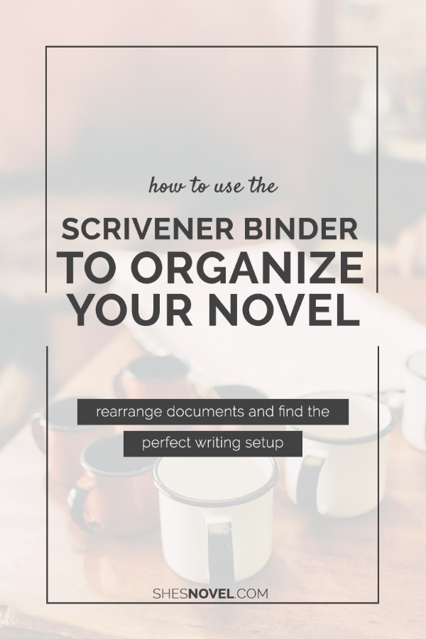 How to Use the Scrivener Binder to Organize Your Novel Project via ShesNovel.com