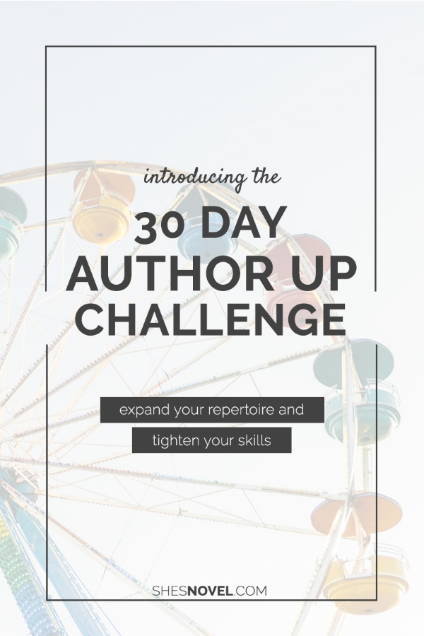 The 30 Day Author Up Challenge from She's Novel