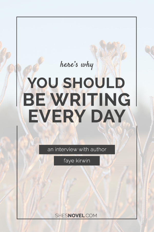 She's Novel Monthly Feature May 2015: Why You Should Be Writing Everyday with Faye Kirwin of Writerology
