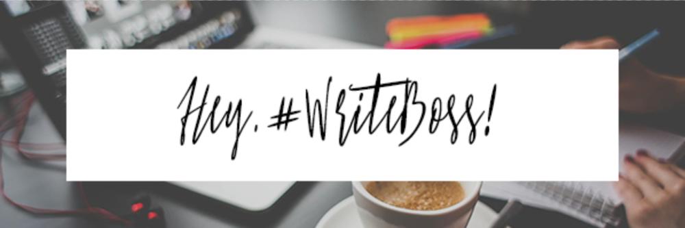 #WriteBoss
