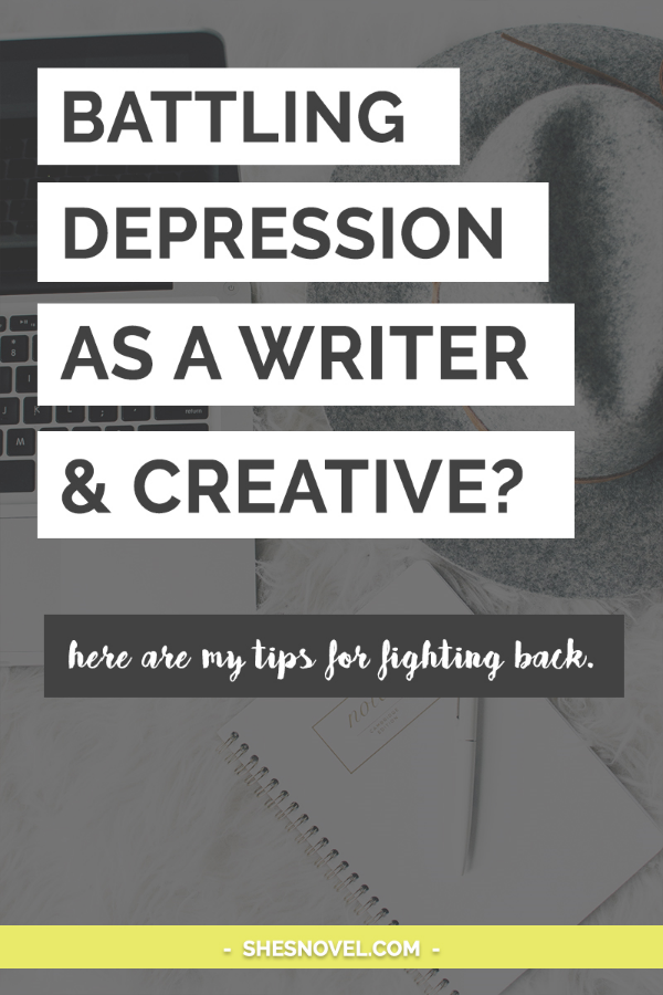 Are you a badass depression battle-er AND a writer? That's a tough combo (though let's be real–depression is tough to fight in any situation). Depression kills creativity and motivation faster than a lightning strike, so how in the world can you fight back and write when all you want to do is never get out of bed? I suffer from depression too, my friend, and I explain what works for me in this blog post. It may just help you too, so click on through to check it out.