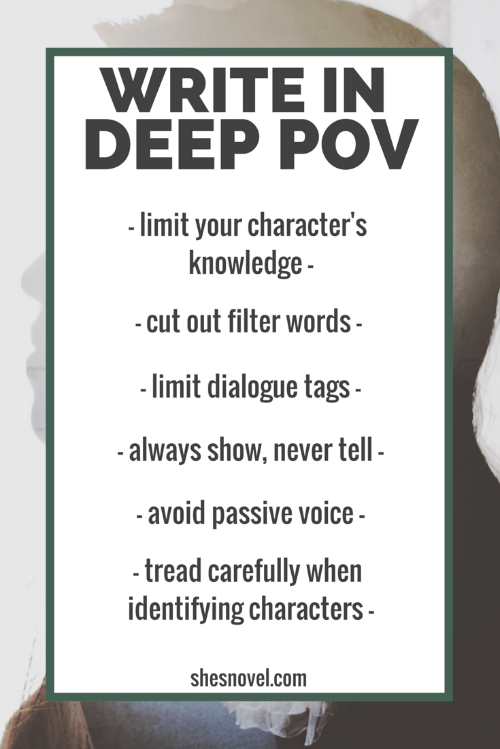 How to Write in Deep POV (get inside the mind of your character) from the How To Write A Story guide series on ShesNovel.com