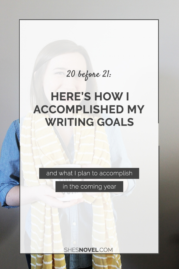 Last year, I set 20 writing goals to complete before I turned 21. This year, I talk about how I did and share my goals for the coming year!