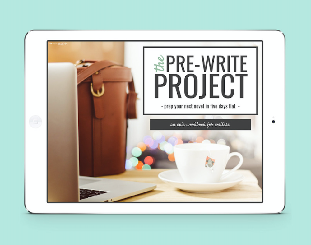 Prepare your next novel in 5 days flat with The Pre-Write Project, an epic workbook by Kristen Kieffer of ShesNovel.com