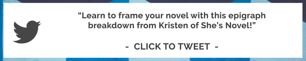 Should you include an epigraph in your novel? Kristen Kieffer shares her thoughts and an epic breakdown of tips and examples from literature in this post on the She's Novel blog.