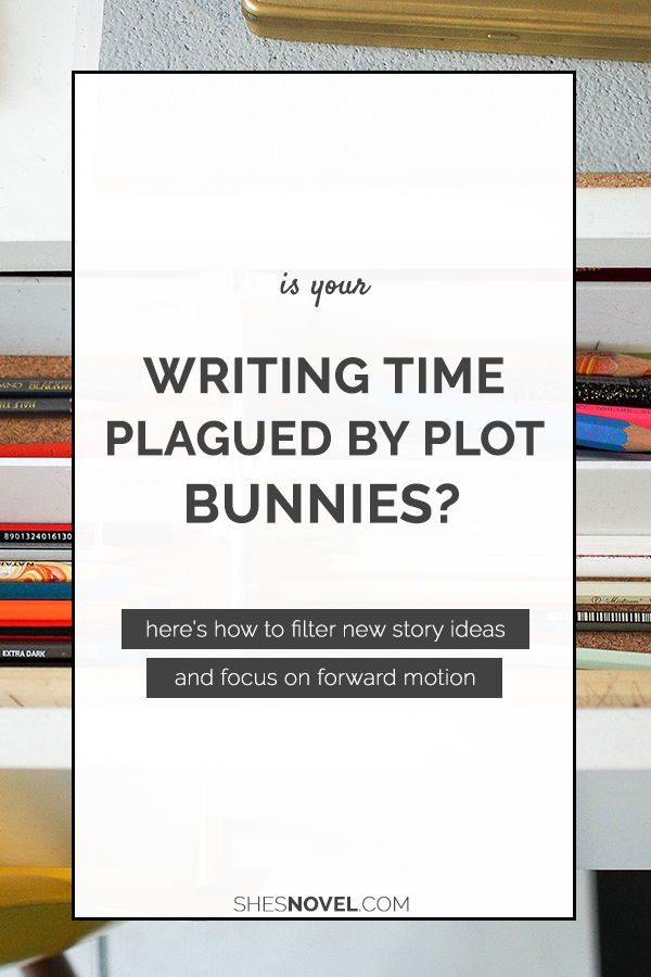 Are new story idea distracting you from finishing your latest draft? Here's how to avoid plot bunny overwhelm and get back to writing your novel with tips from Kristen Kieffer of She's Novel.