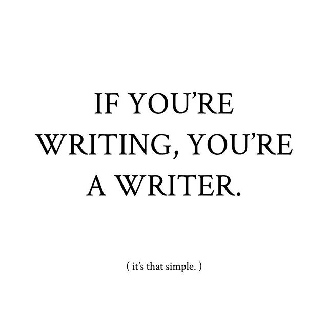 To be a writer, you don't need to be a prodigy. You don't need a degree or to have won some sort of award. You don't even need to be published (or have any plans to publish!).⠀ ⠀ If you love writing and you're actively making the time to pursue that love, you're a writer. It truly is as simple as that, friends. So what will you write today? 📝