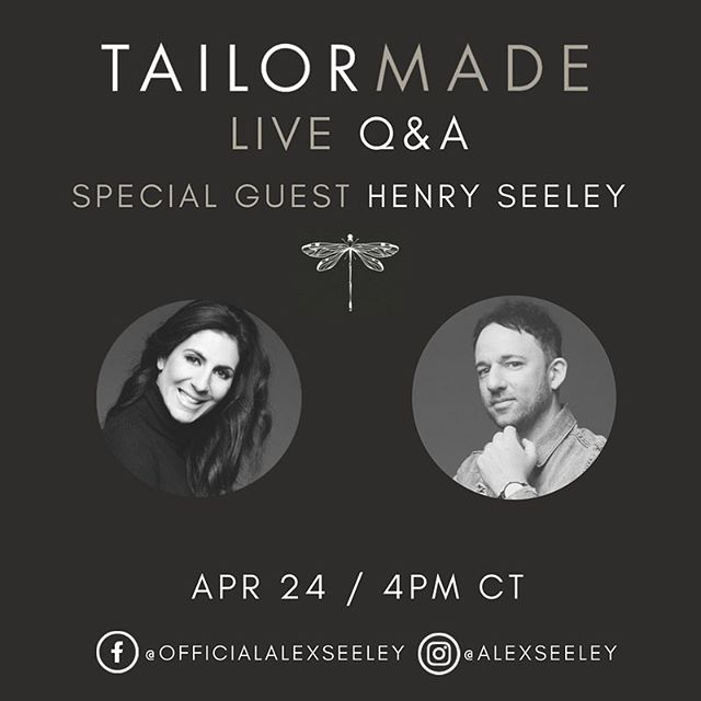 ": I'll be doing a 4 week LIVE series on ""Tailor Made"" over the next month with a special guest each week! Join me on Facebook and Instagram as I unpack the heart behind Tailor Made  and answer any questions you may have!"