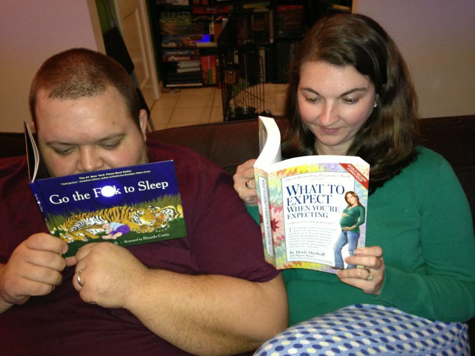Ben & Mer reading baby books