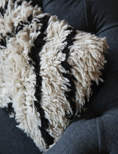 Black & White Shaggy Cushion.PNG